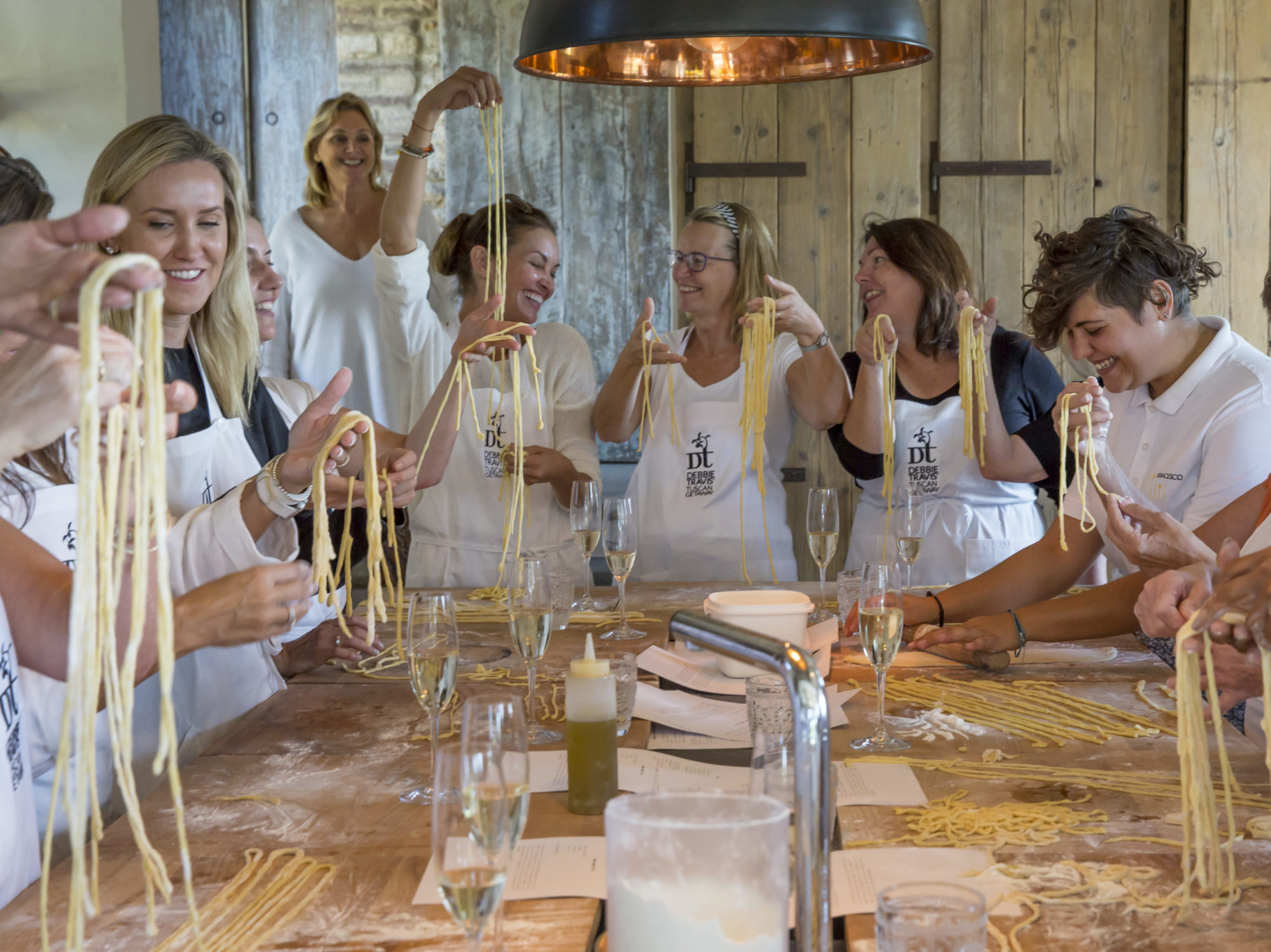 Pasta making at villa Reniella